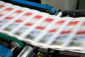 Broschüren werden gedruckt