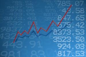 Steigende Aktienkursverlauf